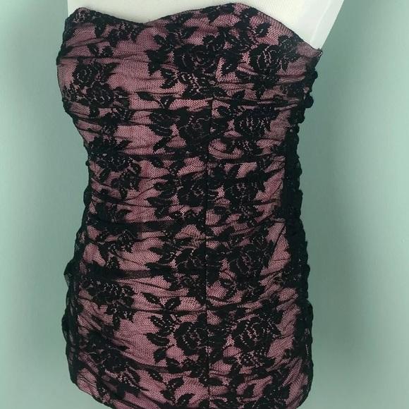 1fda43a73f Sexy TORRID Womens 4x Black Pink Lace Tube Top. M 5b8c76de4cdc30b5c773f2c0